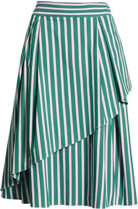 Halogen x Atlantic-Pacific Stripe Asymmetrical Skirt