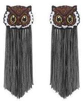 Forest of Chintz Brown What A Hoot Earrings
