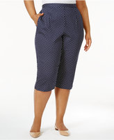 Alfred Dunner Plus Size Seas The Day Collection Polka-Dot Capri Pants
