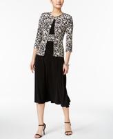 Jessica Howard Petite Midi Dress & Printed Jacket