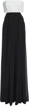 Cinq à Sept Aries Strapless Cutout Crepe-paneled Georgette Gown