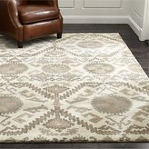 Crate & Barrel Orissa Neutral Wool Rug
