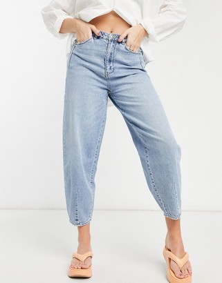 Pimkie slouchy high waist jeans in light blue