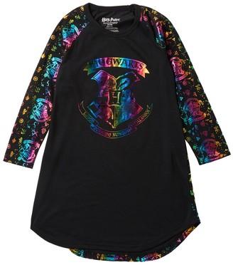 Intimo Harry Potter Hogwarts Rainbow Foil Raglan Nightgown (Little Girls & Big Girls)