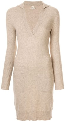 Hermes 1997-2003 pre-owned V-neck cashmere jumper dress