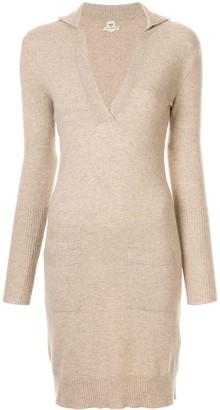 Hermes Pre Owned 1997-2003 V-neck cashmere jumper dress