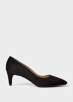 Hobbs Polly Suede Kitten Heel Court Shoes