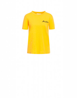 Moschino Jersey T-shirt Mini Logo Signature Woman Yellow Size 38 It - (4 Us)