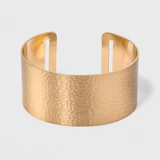 Universal Thread Open Cuff Hammered Metal Bracelet