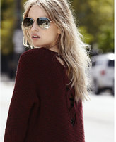 Express marled crossback v-neck shaker knit sweater