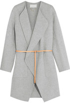 Vanessa Bruno Dugny Oversized Belted Wool And Cashmere-blend Coat - Gray