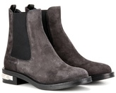 Miu Miu Embellished Suede Chelsea Boots