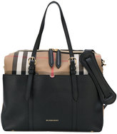 Burberry Mason diaper tote - kids - Cotton/Calf Leather - One Size