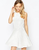 AX Paris Kick Out Skater Dress in Irredescant Fabric
