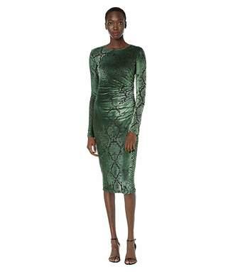 Fuzzi Long Sleeve Python Dress