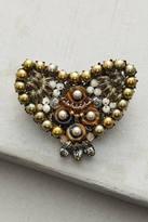 Miriam Haskell Beaded Heart Pin