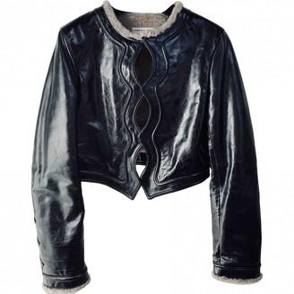 Saint Laurent Black Shearling Jackets