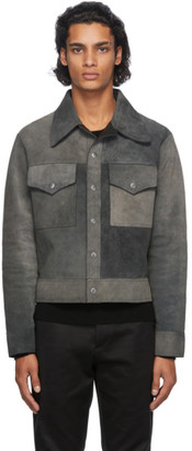 Maison Margiela Reversible Black Leather and Suede Sport Jacket
