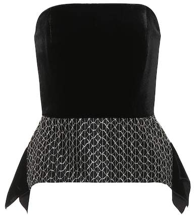 Roland Mouret Syston embroidered velvet top
