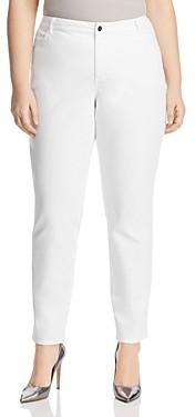 Lafayette 148 New York Plus Curvy Slim Jeans in White