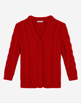 Dolce & Gabbana Long Cable-Knit Cardigan