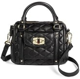 Merona Women's Mini Quilted Crossbody Faux Leather Handbag