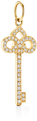 Tiffany & Co. Keys fleur de lis key in 18k gold with diamonds, mini