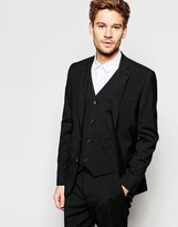 Asos Slim Blazer With Stretch In Black