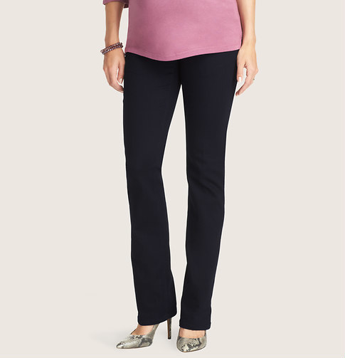 LOFT Maternity Sexy Boot Jeans in Saturated Rinse Wash
