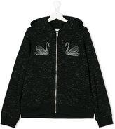 Stella McCartney swan print hoodie - kids - Cotton/Polyester/Viscose - 14 yrs