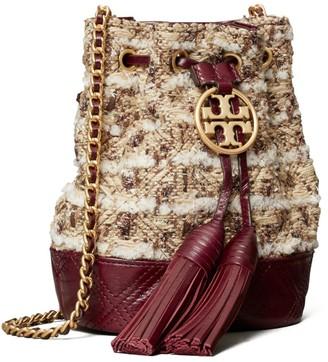 Tory Burch Fleming Soft Tweed Mini Bucket Bag