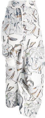Chalayan Embroidered Skirt