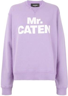 DSQUARED2 Mr. Caten print sweatshirt