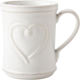 Juliska Berry & Thread Whitewash Cup Full of Love Mug