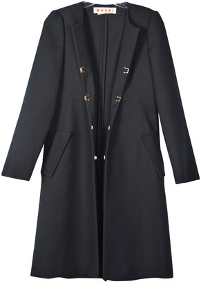 Marni Navy Cotton Coat for Women
