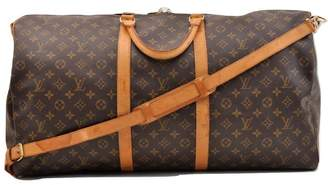 Louis Vuitton Keepall Brown Cloth Travel bags