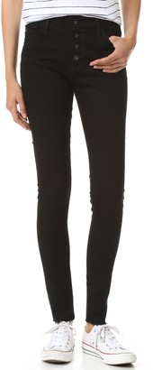 AG Jeans Women's Farrah Skinny Button-Front Jean