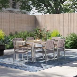 Cara Modern Rustic Interiors Outdoor 7 Piece Dining Set Modern Rustic Interiors