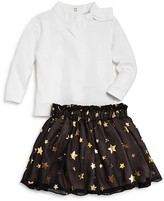 Kate Spade Girls' Bow Top & Star Print Skirt Set - Baby