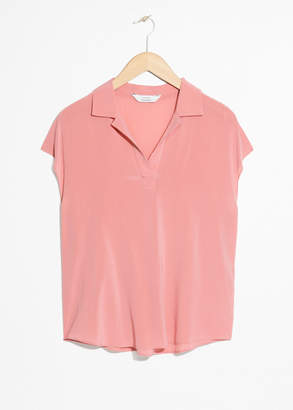 And other stories Short Sleeve Polo Shirt