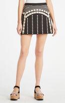BCBGMAXAZRIA Lannia Geometric Embroidered Miniskirt