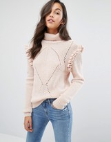 Miss Selfridge Chunky Frill Detail Sweater