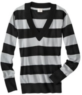 Mossimo Juniors Pullover V-Neck Stripe Sweater - Assorted Colors