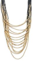 Natasha Layered Multi-Strand Necklace/Goldtone