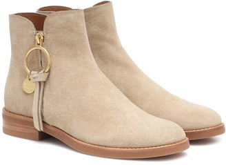 See By Chloã© Louise Flat suede ankle boots