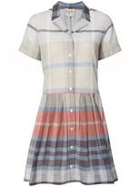 Sea Plaid Shirt Dress