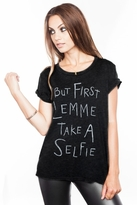 Local Celebrity Selfie Schiffer Tee in Black