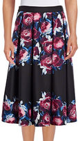 Karl Lagerfeld Paris Floral Print Scuba Ball Skirt