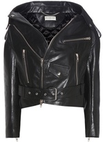 Balenciaga Swing Biker Drop-shoulder Leather Jacket