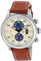 Torgoen Pilot T33 Series T33103 45mm Stainless Steel Case Brown Leather Mineral Men's Watch